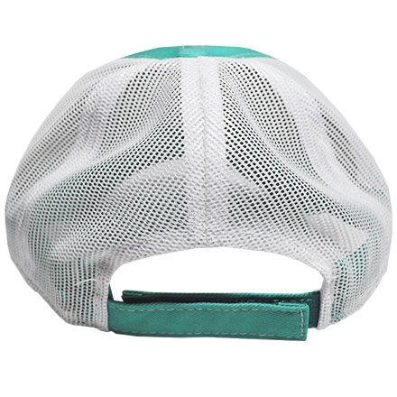 Seafoam Green Midsouth Shooters Frayed Hat With White Mesh Back