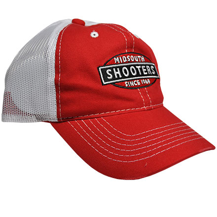 Red Midsouth Shooters Frayed Hat With White Mesh Back