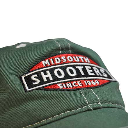 Faded Green Midsouth Shooters Frayed Hat With White Mesh Back