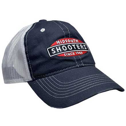 Navy Midsouth Shooters Frayed Hat With White Mesh Back