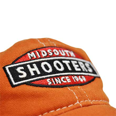 Burnt Orange Midsouth Shooters Frayed Hat With White Mesh Back