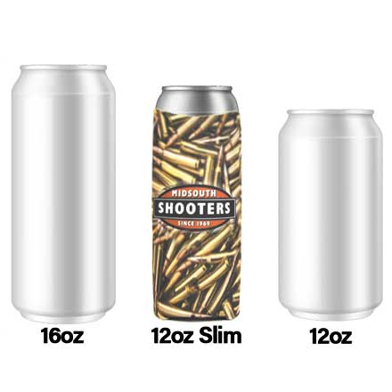 Midsouth Shooters 12oz Slim Bottle Coozie (Load Your Own Ammo)