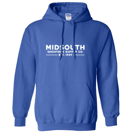 Midsouth Royal Blue Heavy Cotton Long Sleeve Hoodie Pullover With Midsouth Brand (Large)