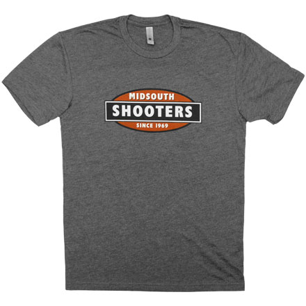 Limited Edition Midsouth Shooters Charcoal Heathered T-Shirt (Extra Soft and Light Weight) Small