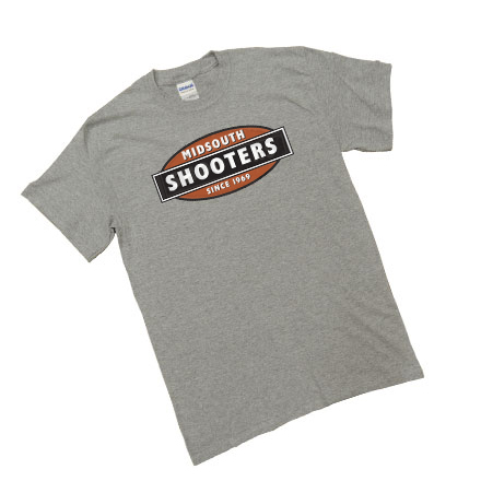 Midsouth Grey Heavy Cotton T-Shirt With Midsouth Logo (Medium)