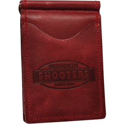 Midsouth Shooters Burgandy Full Grain Leather Wallet