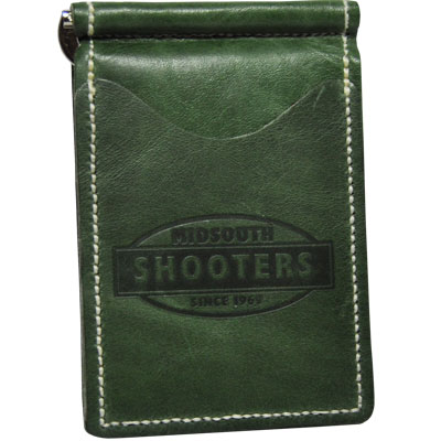 Midsouth Shooters Green Full Grain Leather Wallet