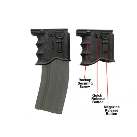 Quick Release Front Grip and Magazine Holder For AR-15/M16/M4 Black