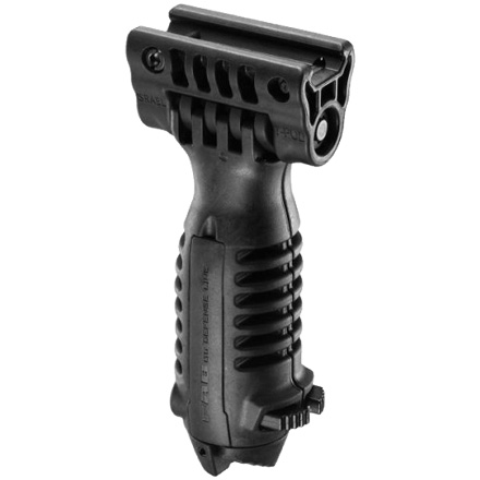 Tactical Foregrip With Integrated Adjustable Bipod (Black)