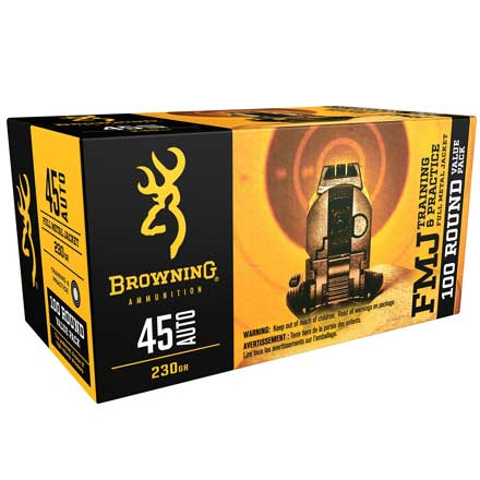 Browning 45 Auto 230 Grain Full Metal Jacket BPT Performance Target 100 Rounds