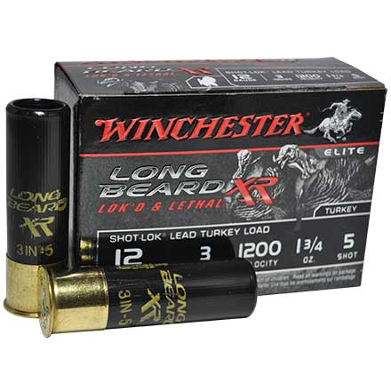 "12 Gauge 3"" Long Beard XR #5 Shot 1200 Feet Per Second 1-3/4oz 10 Rounds"