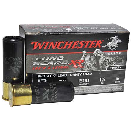 "12 Gauge 2-3/4"" Long Beard XR #5 Shot 1300 Feet Per Second 1-1/4oz 10 Rounds"