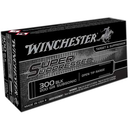 300 AAC Blackout 200 Grain Super Suppressed Subsonic FMJOT 20 Rounds