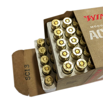 9mm 115 Grain MHS Active Duty M1152 FMJ Flat Nose Ball 100 Rounds