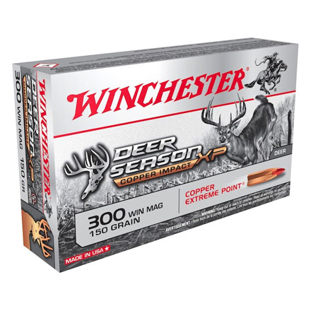 300 Winchester Magnum 150 Grain Deer Season XP Copper Impact 20 Rounds