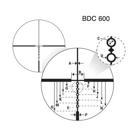 M-Tactical .223 4-16x42SF BDC600 Reticle Matte Finish