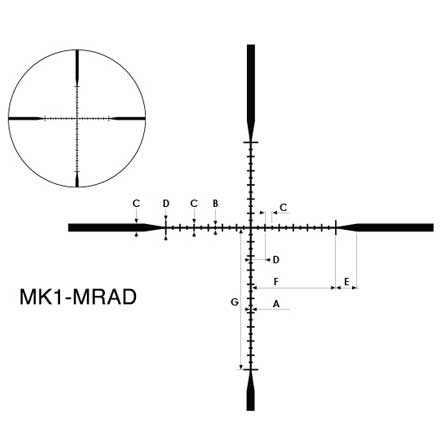 M-Tactical 3-12x42SF MK1-MRAD Reticle  Finish