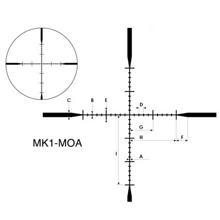 P-Tactical 3-9x40 MK-1-MOA Reticle Matte Finish