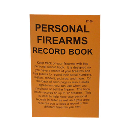 Image for Do Everything Manual Personal Firearms Record Book