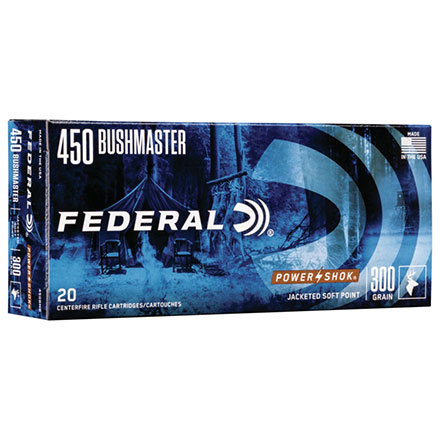 450 Bushmaster 300 Grain Power-Shok Jacketed Hollow Point 20 Rounds