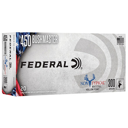 450 Bushmaster 300 Grain Non-Typical Jacketed Hollow Point 20 Rounds