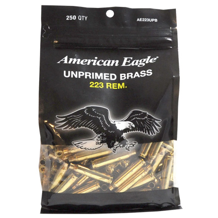 Image for Federal .223 Remington Unprimed Bagged Brass 250 Count