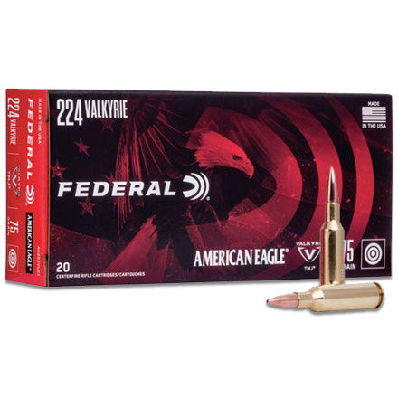 224 Valkyrie 75 Grain Total Metal Jacket 20 Rounds