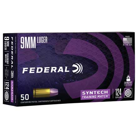 9mm Luger 124 Grain Syntech Training Match TSJ 50 Rounds