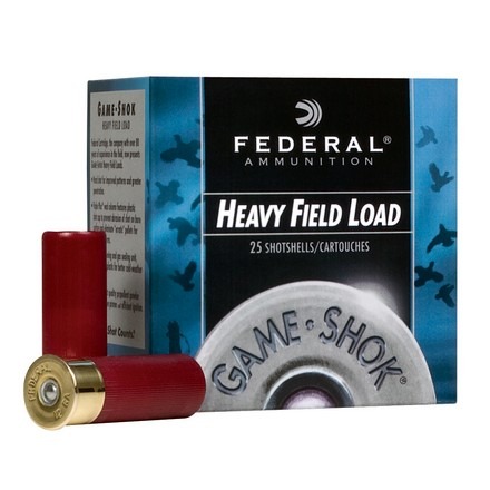 "12 Gauge 2-3/4"" 1-1/8 Oz Game-Shok Heavy Field Lead #7.5 Shot 25 Rounds"