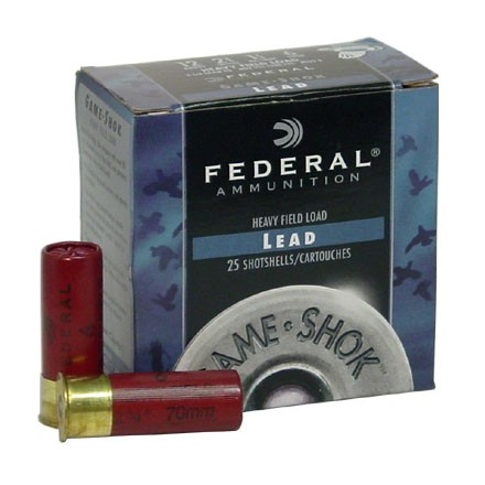 "12 Gauge 2-3/4"" 1-1/4 Oz Game-Shok Classic Field Load #6 Shot 25 Rounds"