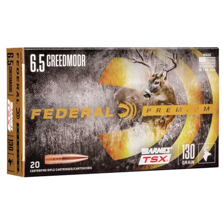 6.5 Creedmoor 130 Grain Barnes Triple-Shok X TSX 20 Rounds