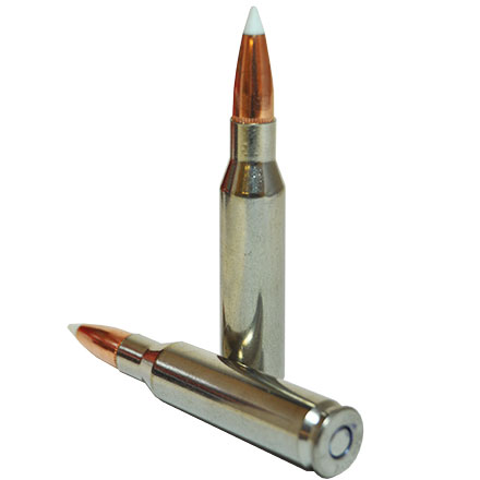 "7mm-08 Remington 140 Grain Nosler Accubond ""Vital-Shok"" Nickel Case 20 Rounds"