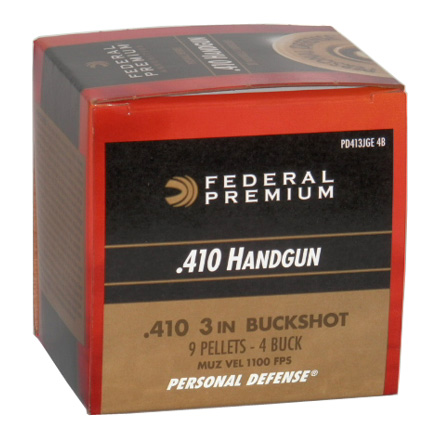 "410 Gauge 3"" #4 Buck Personal Defense 20 Rounds"