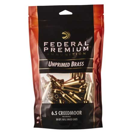 Premium 6.5 Creedmoor  Unprimed Rifle Brass 50 Count