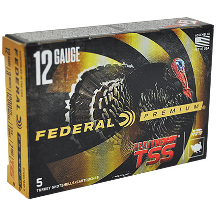 "12 Gauge 3"" 1 3/4 Oz #7 Shot Heavyweight TSS w/Flitecontrol Flex Turkey Shotshells 5 Rounds"