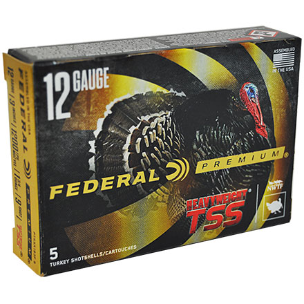 "12 Gauge 3"" 1 3/4 Oz #9 Shot Heavyweight TSS w/Flitecontrol Flex Turkey Shotshells 5 Rounds"