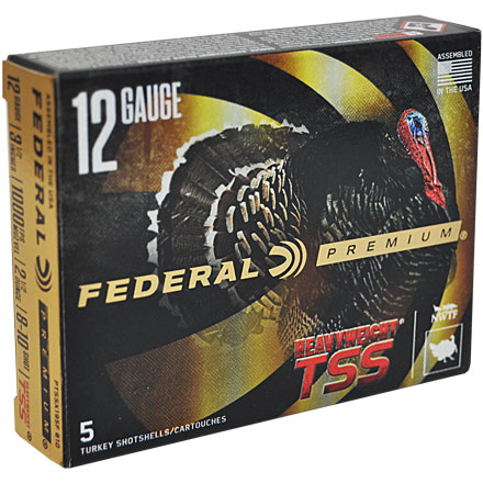 "12 Gauge 3-1/2"" 2-1/2 Oz #8,10 Shot Heavyweight TSS w/Flitecontrol Flex Turkey Shotshells 5 Rounds"
