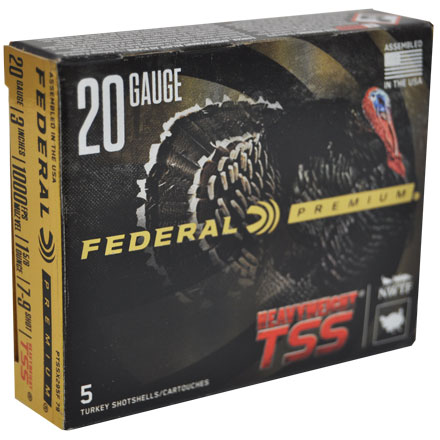 "20 Gauge 3"" 1-5/8 Oz #7,9 Shot Heavyweight TSS w/Flitecontrol Flex Turkey Shotshells 5 Rounds"