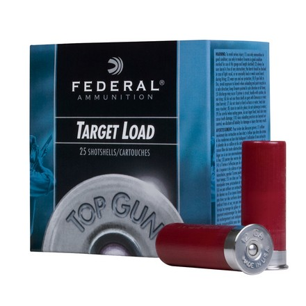 "12 Gauge 2-3/4"" 1 Oz 3 Dram Top Gun Target #7.5 Shot 25 Rounds"