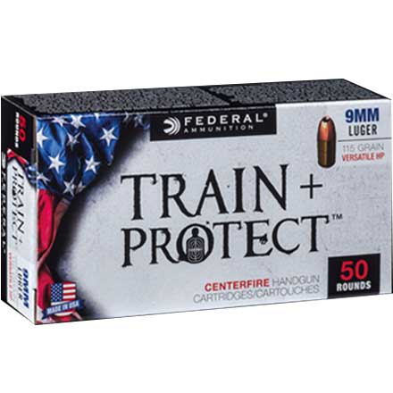 9mm Luger 115 Grain Train + Protect VHP 50 Rounds