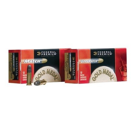 22 LR (Long Rifle) 40 Grain Gold Medal Premium Ultra Match 50 Rounds