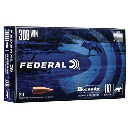 308 Winchester 110 Grain Hornady V-Max 20 Rounds