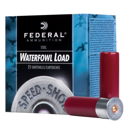 "12 Gauge 3-1/2"" 1-3/8 Oz Speed-Shok Steel #3 Shot 25 Rounds"