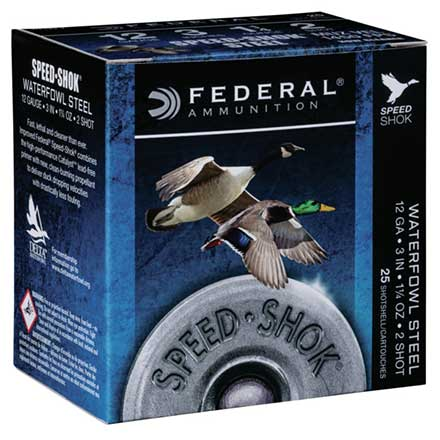 "12 Gauge 3"" 1 1/4 Oz #3 Speed-Shok High Velocity Shotshells 25 Rounds"