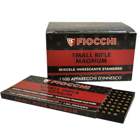 Fiocchi Small Rifle Magnum Primers 1500 Count  10 Sleeves of 150