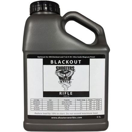 Shooters World Blackout Smokeless Powder 8 Lb By Lovex