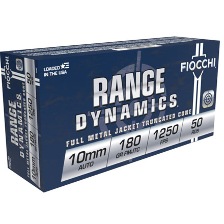 Fiocchi 10mm Auto 180 Grain Full Metal Jacket Truncated Cone 50 Rounds