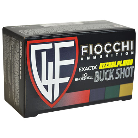 "Fiocchi Field Box 12 Gauge 2 3/4""  #00 Buckshot 9 Pellets High Velocity Nickel Plated  80 Rounds"
