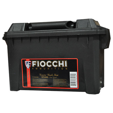 "Fiocchi Field Box 12 Gauge 2 3/4""  #00 Buckshot 9 Pellets Low Recoil Nickel Plated 80 Rounds"