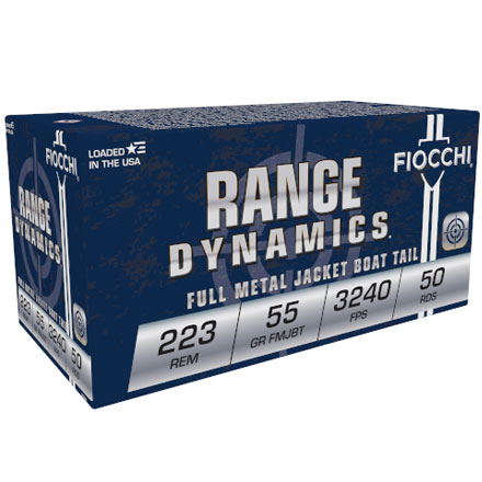 Fiocchi 223 Remington 55 Grain Full Metal Jacket Boat Tail 50 Rounds